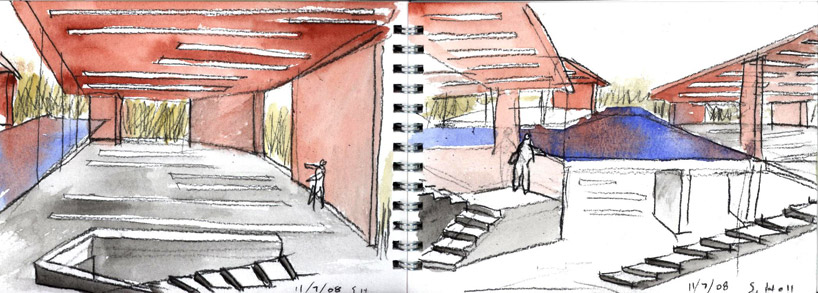 Steven Holl Daeyang Gallery and House Watercolours