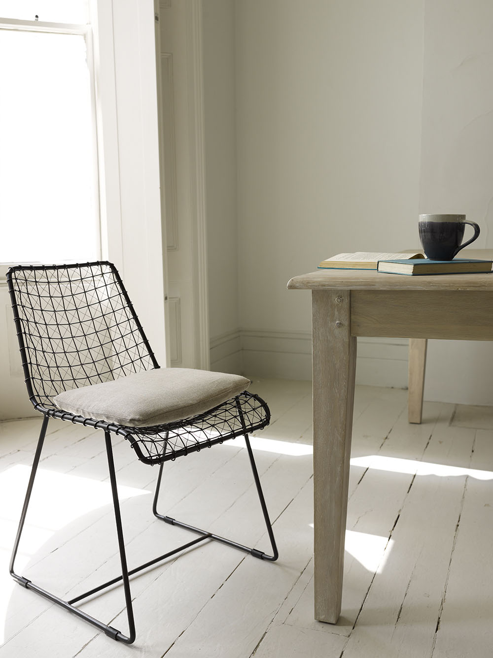 Loaf - Geronimo Gunmetal chair £290 per pair with Bayonne kitchen table £695 low-res