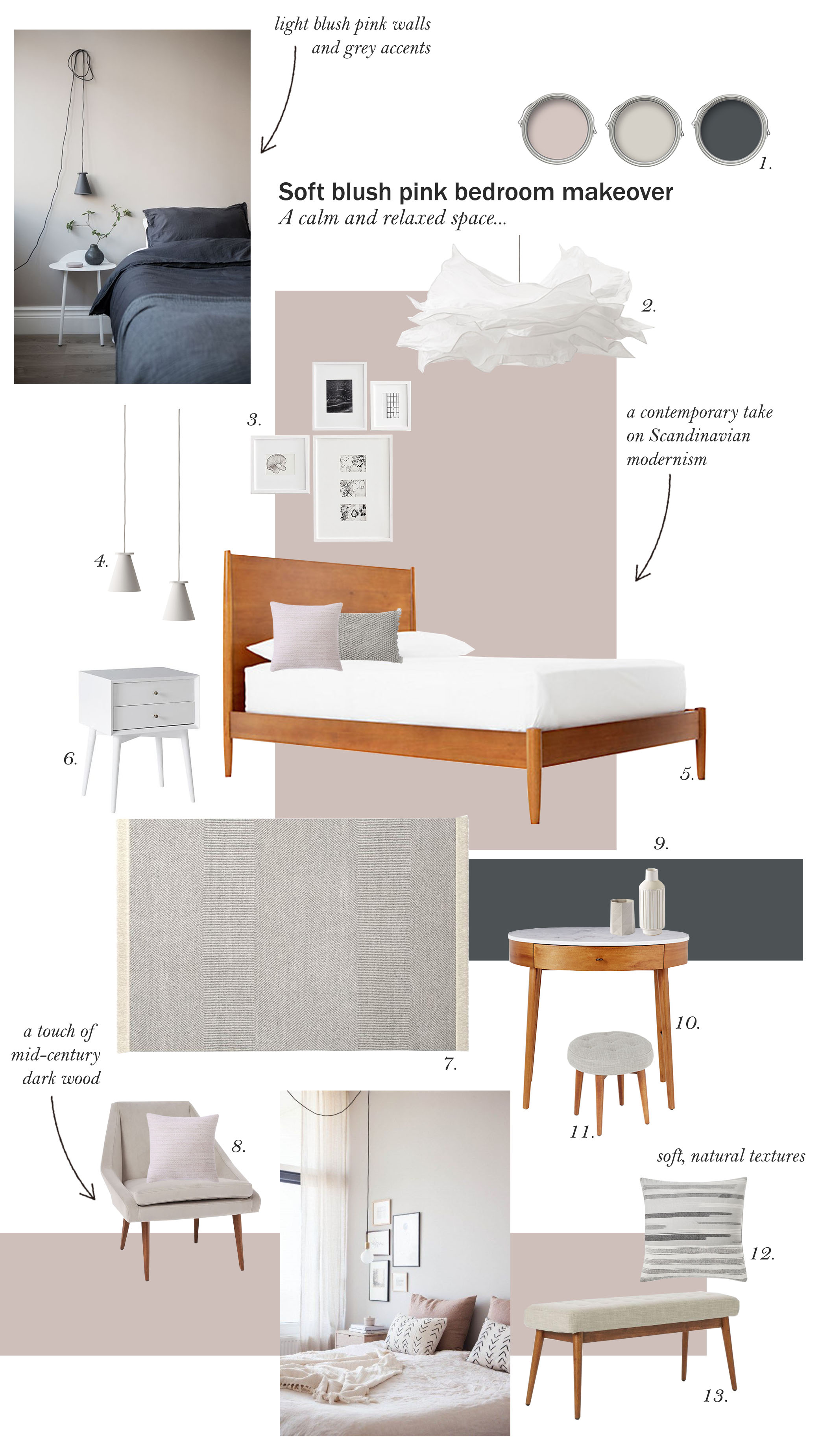 catesthill soft dusty pink bedroom makeover inspiration cate st hill rh catesthill com