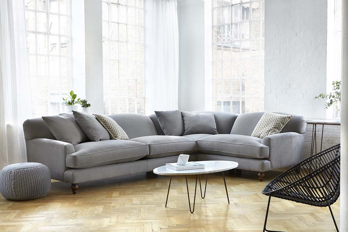 Tips for choosing a sofa to suit your home - Galloway Corner Sofa by Darlings of Chelsea