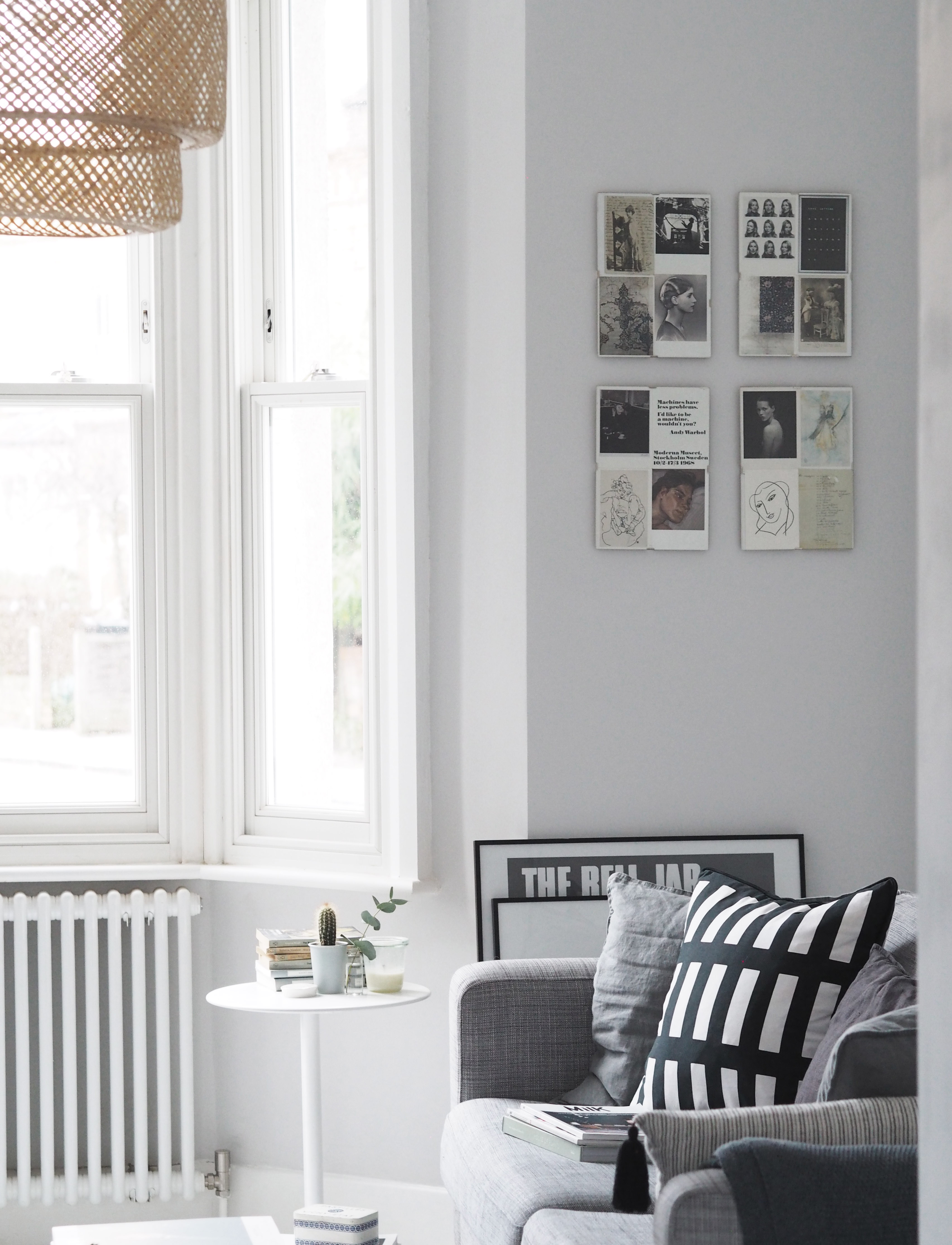 My Scandi Style Living Room Makeover Painted White Floors And Light Grey Walls Cate St Hill
