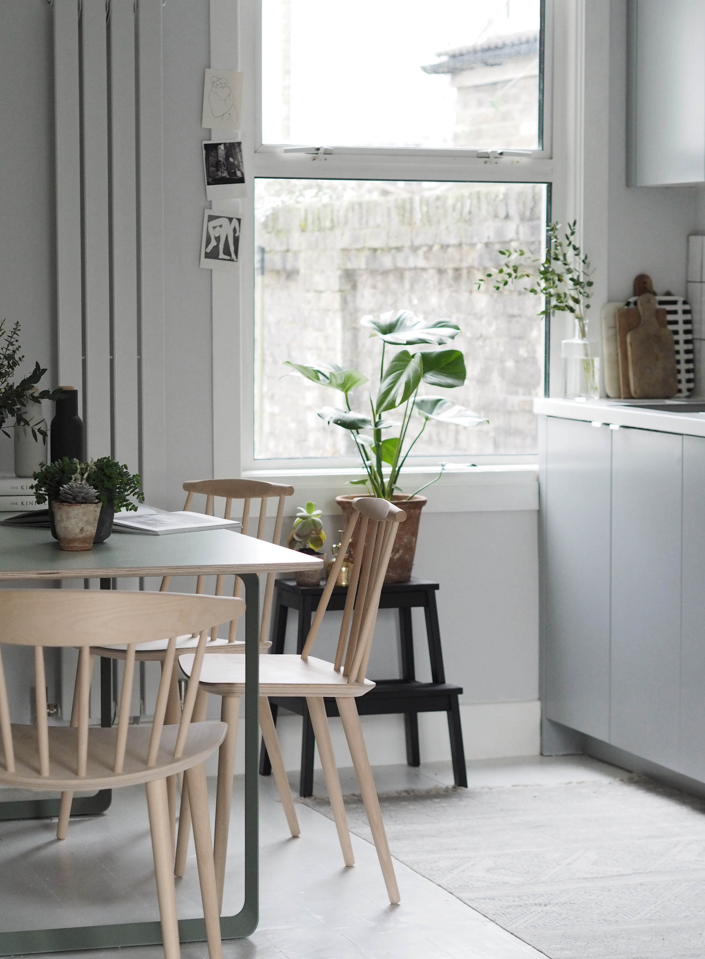 Muuto 70 70 Table In Green Modern Scandinavian Design Dining Table Plants In The Home Cate St Hill